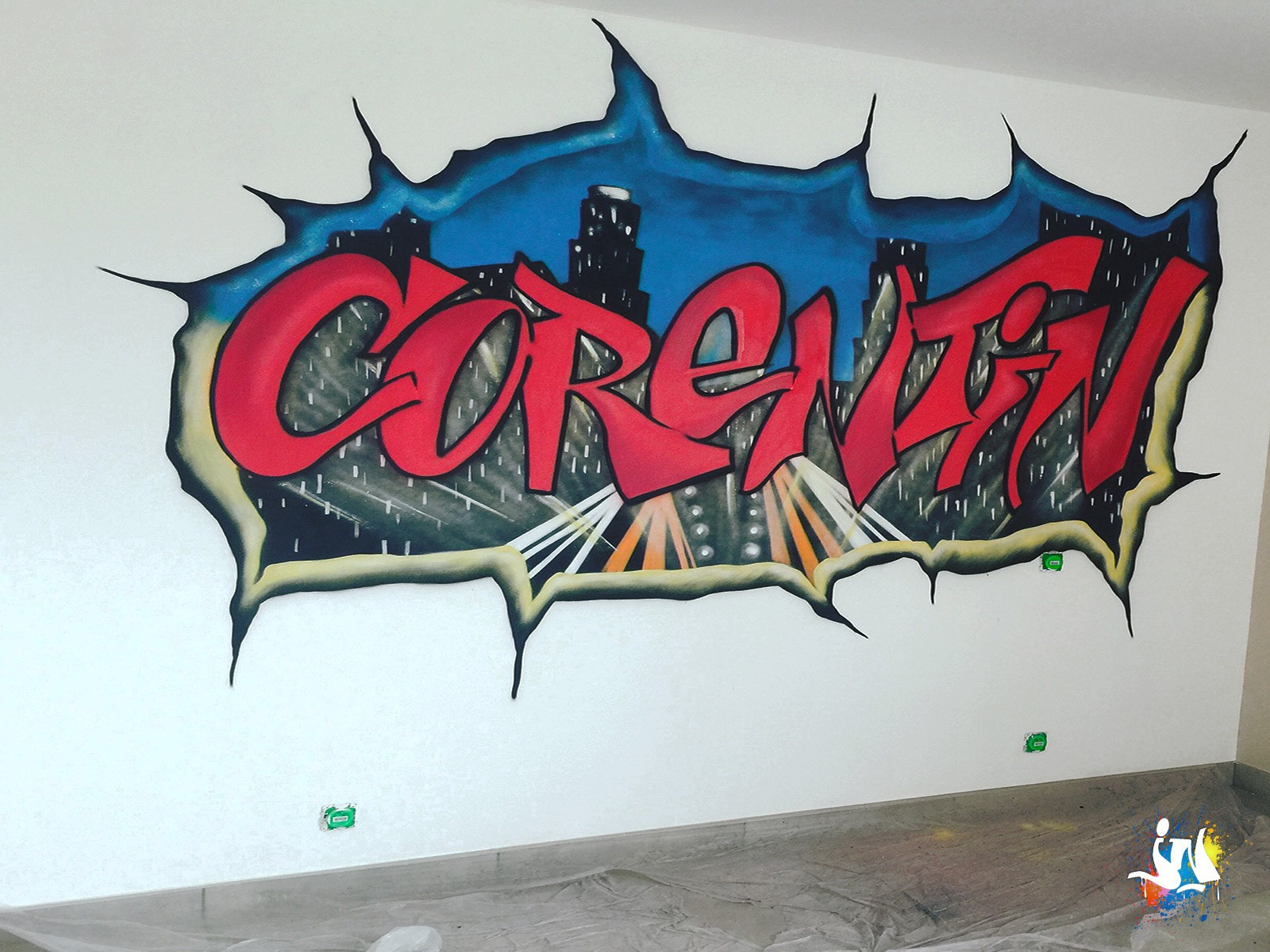 diff rents pr noms en graffiti dans les chambres d 39 enfants et ados. Black Bedroom Furniture Sets. Home Design Ideas